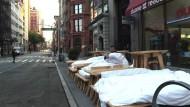 """Outdoor-Wohnzimmer"""" auf Manhattans Straßen"""