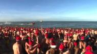 Neujahrsschwimmen in der Nordsee