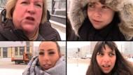 Reaktionen von Frauen auf #Armlänge Abstand