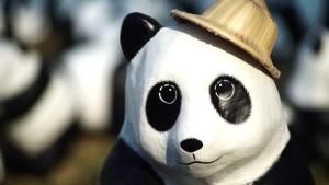 Pandaparade in Thailand