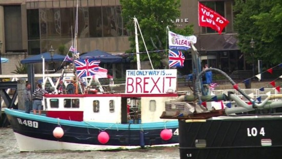 Brexit-Flottille in London auf Stimmenfang