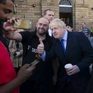Boris Johnson am Freitag in Doncaster