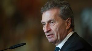 Oettinger: Briten müssen EU Milliarden nachzahlen
