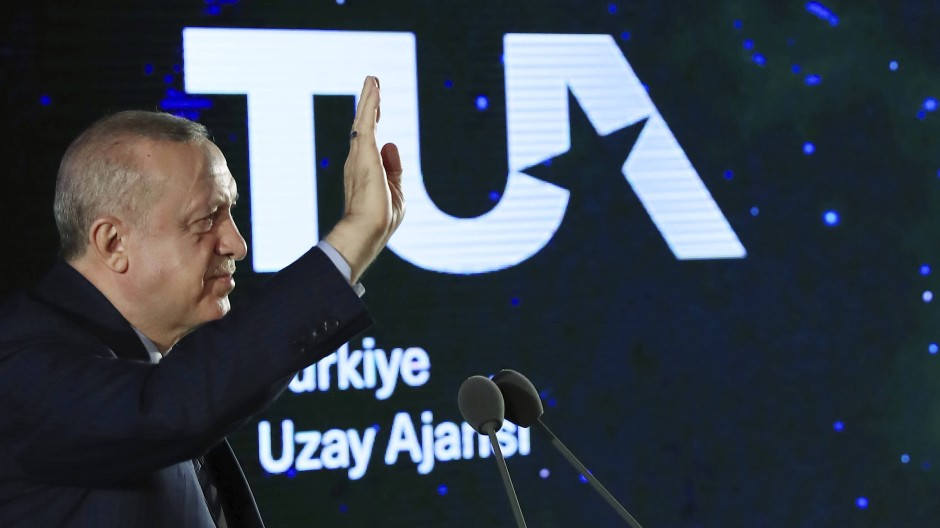 Recep Tayyip Erdogan bei der Verkündung des türkischen Raumfahrtprogramms am 9. Februar in Ankara
