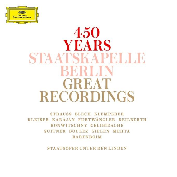 450 Years Staatskapelle Berlin: Great Recordings, 15 CDs, DGG 4837887 (Deutsche Grammophon/ Universal).