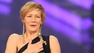 So eine Freude: Sandra Hüller Ende Januar in München, frisch ausgezeichnet mit dem Bayerischen Filmpreis
