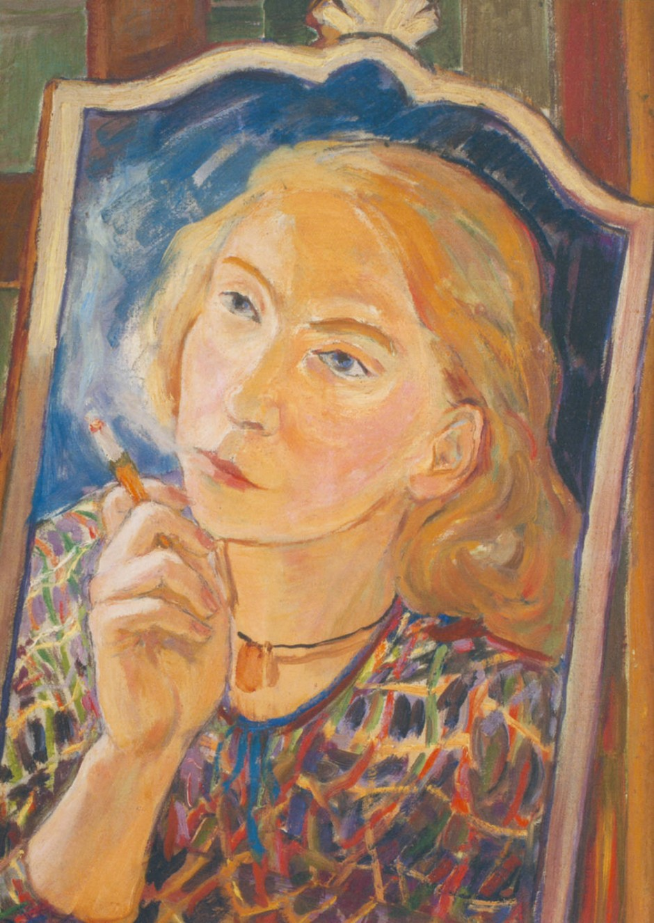 Blick aus dem Spiegel: Das Selbstporträt entstand 1939.