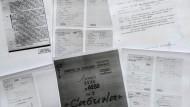 Kopien der mutmaßlichen IM-Akte Julia Kristevas, präsentiert vom Bulgarischen Geheimdienst