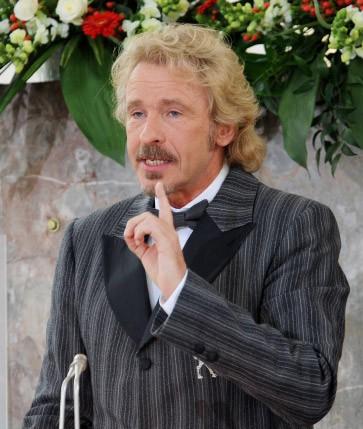 Lob des begnadeten Unterhalters: Thomas Gottschalk während seiner Laudatio