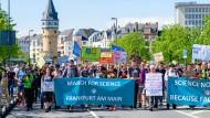 Für eine unabhängige Wissenschaft: March for Science in Frankfurt