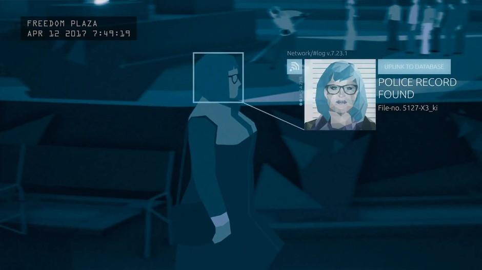 Politisch? Das wagen oft nur kleine Studios: Im Spiel Orwell fahndet man mit Kameraaufzeichnungen und Daten sozialer Netzwerke nach Systemfeinden.