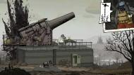 """Große Kanonen, aber schießen darf man nicht im Weltkriegsspiel """"Valiant Hearts""""."""