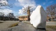 Soll das neue Museum der Moderne sich ducken und den Kopf einziehen? Freifläche am Kulturforum.