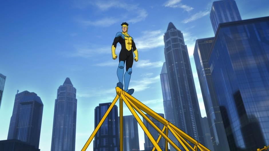"""Unbesiegbar? Nun ja: Mark Grayson alias """"Invincible"""" in seinem neuen Heldenoutfit."""