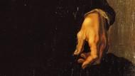 Ausschnitt eines Porträts Michelangelos, gemalt von Jacopino del Conte, ca. 1535. Gut zu erkennen sind die Verformungen an den Handgelenken.