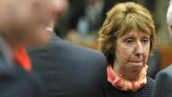 Wird Catherine Ashtons Telefon abgehört? Ein angebliches Gespräch der EU-Außenpolitikerin mit dem estnischen Außenminister Urmas Paet kursiert derzeit im Netz