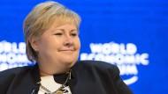 Wollte die Löschung nicht hinnehmen: Erna Solberg, Ministerpräsidentin von Norwegen.