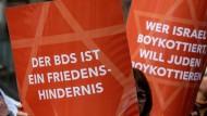 Ein Anti-BDS-Protest im März in Göttingen