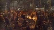 """Arbeitsplatz der ersten industriellen Revolution: Adolph Menzels """"Eisenwalzwerk"""""""