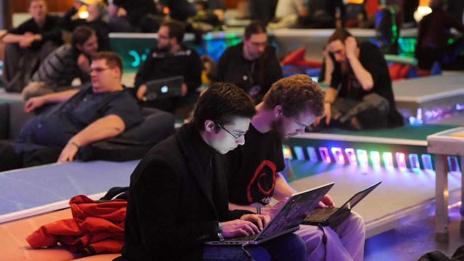 Teilnehmer des 28. Jahreskongresses des Chaos Computer Clubs