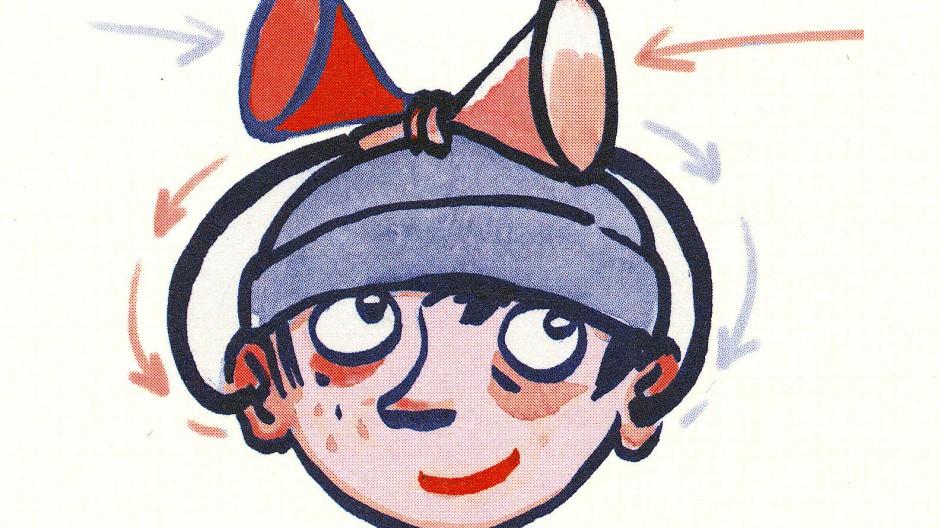 """Ausgerüstet sein ist alles: Zeichnung Regina Kehns aus Ulf Starks """"Als ich die Pflaumen des Riesen klaute"""""""