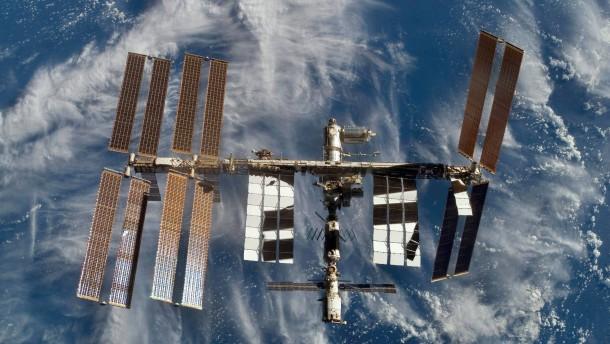 ISS nach dem Ablegen der Raumfähre