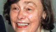 Ilse Aichinger, geboren am 1. November 1921 und gestorben am 11. November 2016 in Wien, im Mai 1991