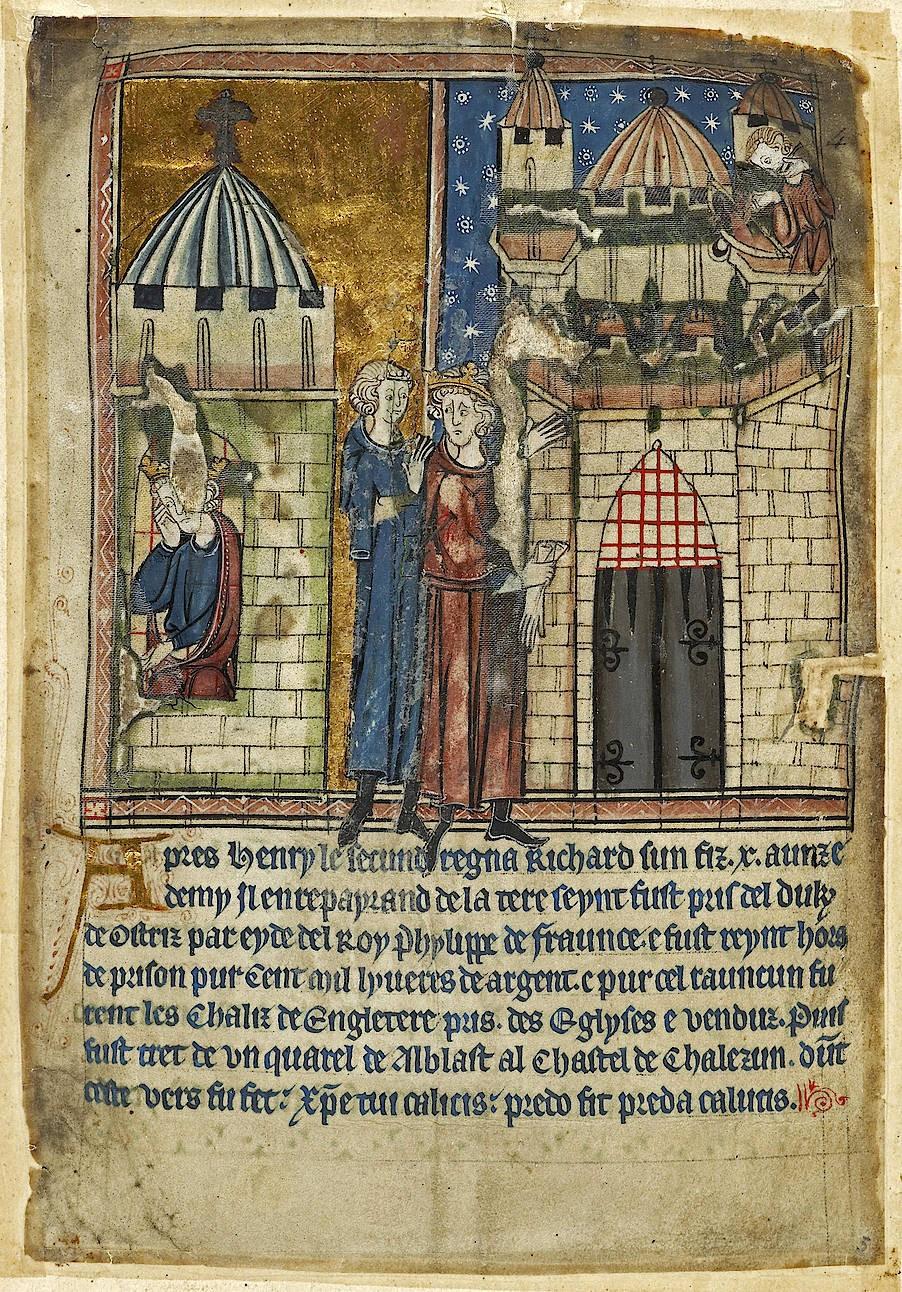 Darstellung der Gefangenschaft und des Todes Richards