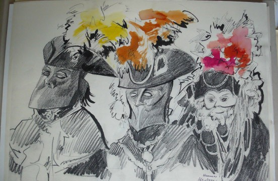 Zeichnung Tusche Original Drawing Flower Blume Tulpe Art Kunst Unikat Cooperative meister
