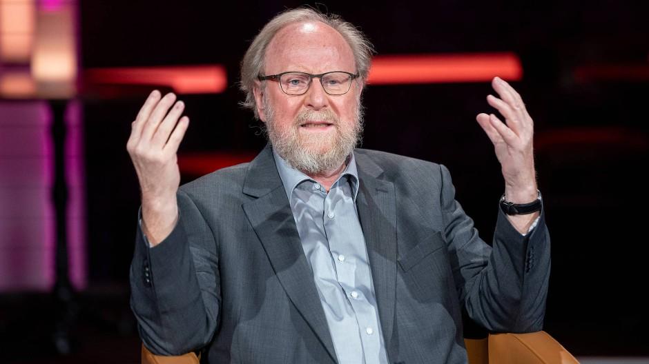 Wolfgang Thierse im Oktober 2020 am Rande einer Talkshow in Leipzig