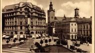 Als wär's ein Stück von Österreich: der Lemberger Marienplatz mit dem Mickiewicz-Denkmal in der Zeit vor 1945