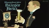 Dieses Plakat wirbt Anfang des 20. Jahrhunderts für ein Hamburger Bier.