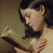 """Als gäbe es nichts anderes: Franz Eybls """"Lesendes Mädchen"""" aus dem Jahr 1850"""