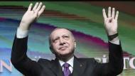 Recep Tayyip Erdogan am Mittwoch vor Anhängern in Ankara