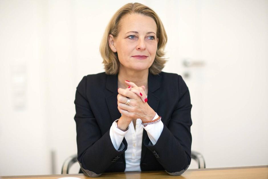 Miriam Meckel in der Berliner F.A.Z.-Redaktion