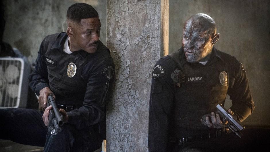 Ist hier jemand etwas blass um die Nase? Will Smith und Joel Edgerton spielen ein etwas anderes Polizeiteam.