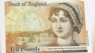Eine durchaus naheliegende Wahl: Im Juli 2013 stellt Mark Carney, Direktor der Bank von England, die neue Zehn-Pfund-Note mit dem Konterfei Jane Austens vor.