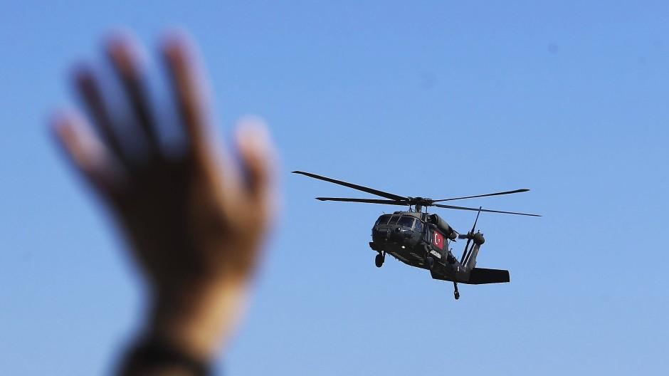 Black-Hawk-Hubschrauber der dem Innenministerium unterstellten Generalkommandantur der Gendarmerie bei einem Technologie-Festival in Istanbul im September 2019