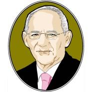 Finanzminister Wolfgang Schäuble liest über Maria Theresia.