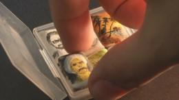 Mini-Porträts auf Kaugummis