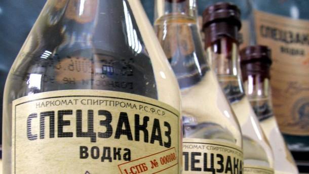 Bürger, trinkt  staatlichen Wodka!