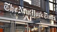 Illiberales Meinungsklima? Blick auf das Gebäude der New York Times.