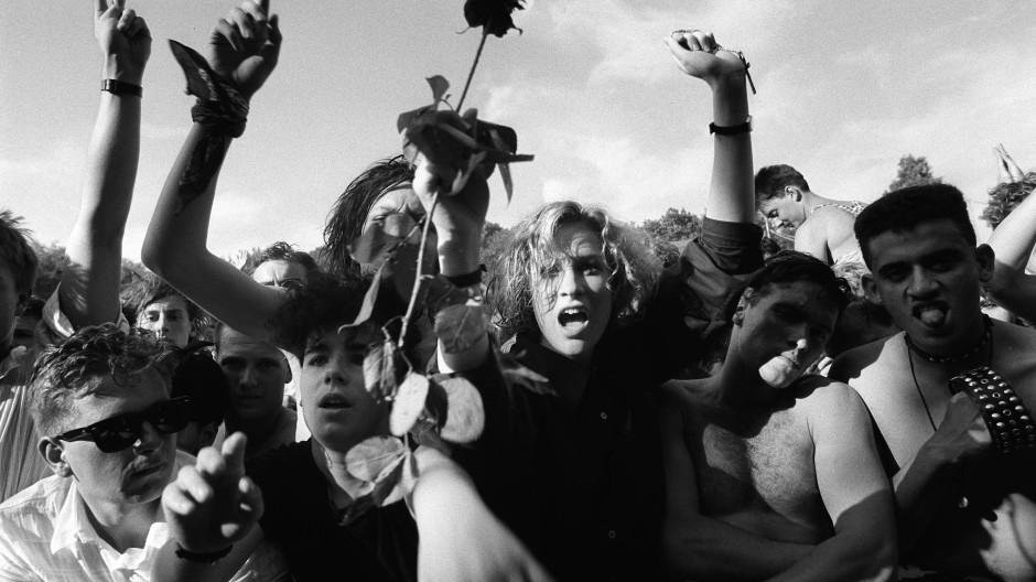 Publikum beim Bizarre-Festival im Juli 1987 auf der Freilichtbühne Loreley