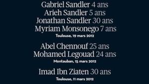 Nur die Namen der Opfer