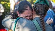 Auf der Beerdigung von Hadar Cohen, die von bewaffneten Palästinensern vor dem Damaskustor angegriffen worden war.