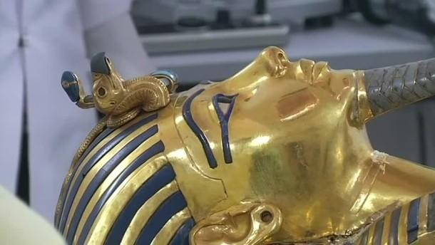 Maske von Tutanchamun wieder im Ägyptischen Museum