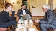 Ist das nicht elitärer Quatsch, was wir machen? Sibylle Berg, Lukas Bärfuss und Peter von Matt (von links) in Ascona.