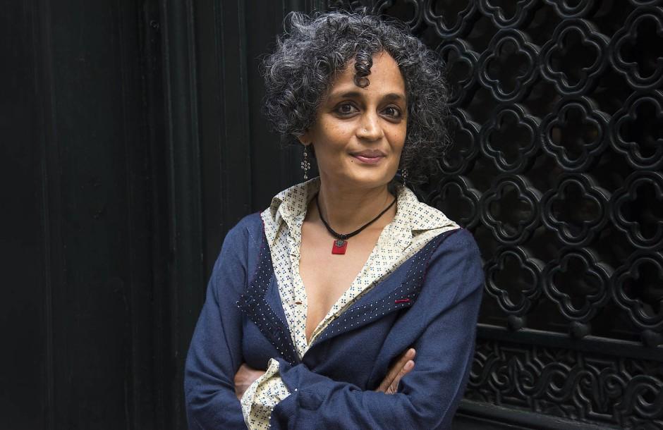 Die indische Schriftstellerin Arundhati Roy