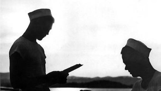 Zwei Mann auf hoher See