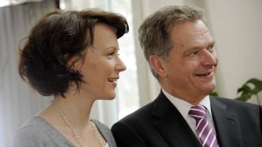Finnlands Präsidenten- und prominentestes Autorenpaar: Jenni Haukio und ihr Mann Sauli Niinistö.